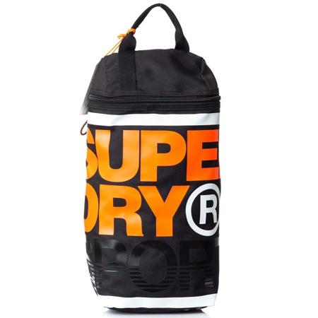 Picture of Superdry LINEMAN SPORTS BOOT BAG M91043GQ AOC BLACK/HAZARD ORANGE