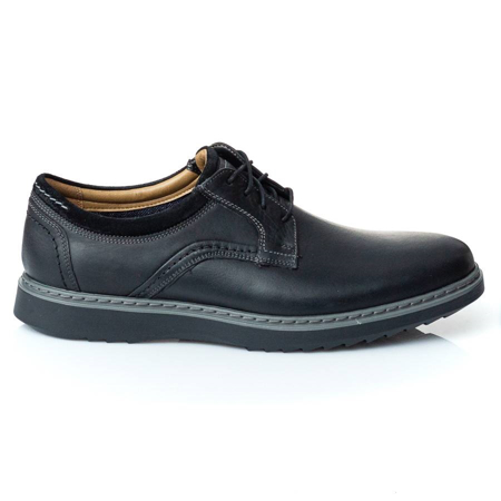 Picture of Clarks UN GEO LACE BLACK LEATHER 26136809