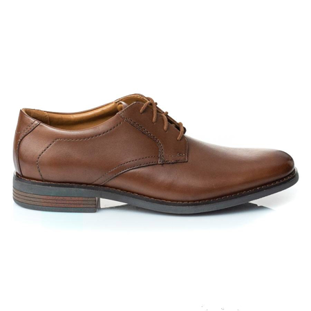 Picture of Clarks BECKEN LACE DARK TAN LEATHER 26145296
