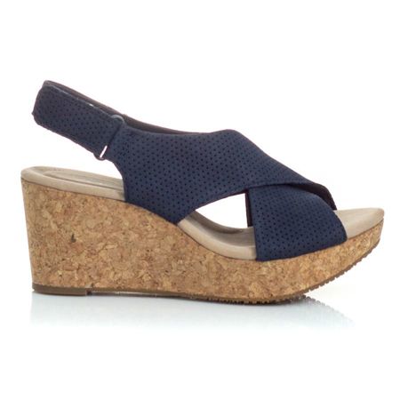Picture of Clarks ANNADEL PARKER NAVY SUEDE 26150564