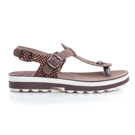 Picture of Fantasy Sandals S9005 MARLENA ESPRESSO COBRA