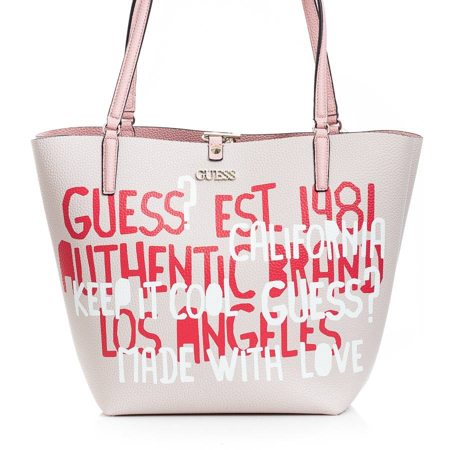 Picture of Guess ALBY HWGG745523 Graffiti Pink