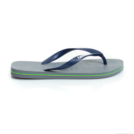 Picture of Havaianas 4110850-7671 BRASIL LOGO GREY