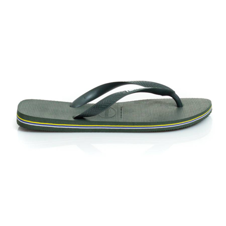 Picture of Havaianas 4110850-4896 BRASIL LOGO OLIVE