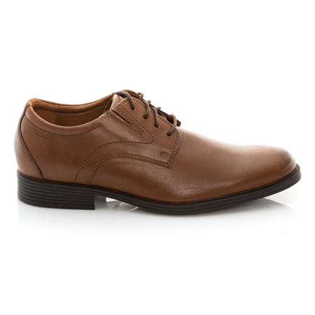 Picture of Clarks Whiddon Plain 26152919 Dark Tan Leather