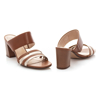 Picture of Clarks Jocelynne Andi 26159592 Tan Combi Leather