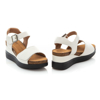 Picture of Clarks Lizby Strap 26159185 White Leather