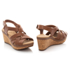 Picture of Clarks Annadel Rayna 26153718 Dark Tan Leather