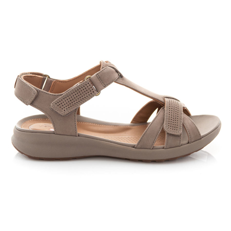 Picture of Clarks Un Adorn Vibe 26148734 Taupe Nubuck
