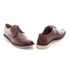 Picture of Clarks Malwood Plain 26159562 Dark Tan Leather