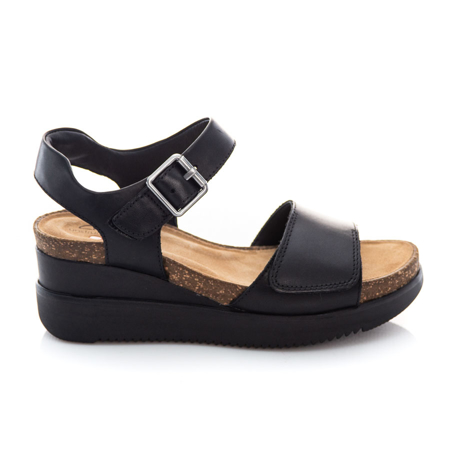 Picture of Clarks Lizby Strap 26159187 Black Leather