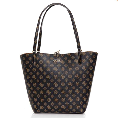 Picture of Guess Alby HWPG745523 Mocha/Cognac